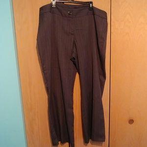 Lane Bryant striped dress pants, 24